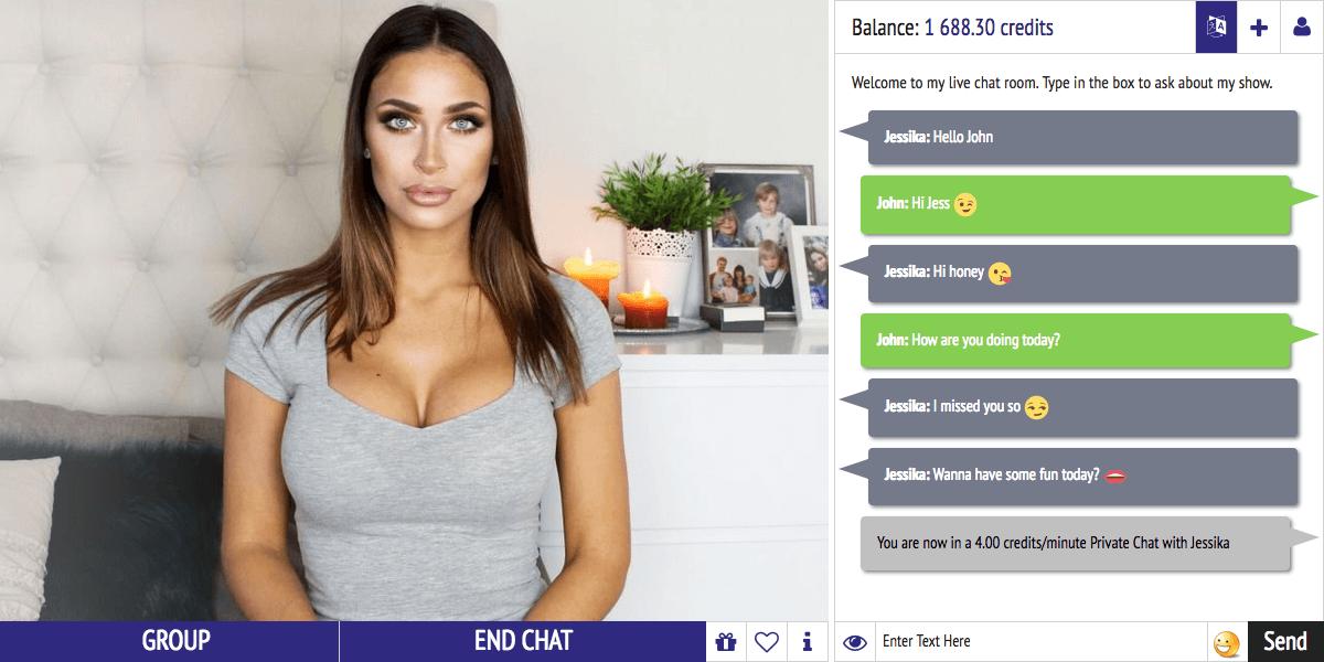 Live model chat